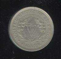 5 Cents / Five Cents Etats Unis / USA 1907 - TTB+ - 1859-1909: Indian Head