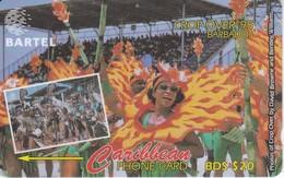 TARJETA DE BARBADOS DE CROP OVER 95 ( 92CBOA) CARNAVAL - Barbados