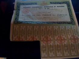 Vieux Papier  Action  Société  Le  Tissage  A Palette Libre Certificat Provisoire D Actions  De 100 Francs Annee D1913 - Textile