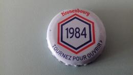 CAPSULE DE BIERE KRONENBOURG 1984 BLANCHE - Cerveza