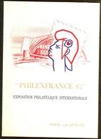DOCUMENT OFFICIEL POSTE 1982 PHILEXFRANCE 82 Oblitéré 1er JOUR - FDC