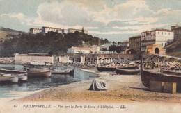 CPA Philippeville, Vue Vers La Porte De Stora Et L'Hôpital (pk49522) - Skikda (Philippeville)