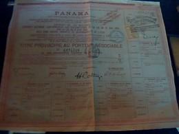 Vieux Papier  Bon Au Porteur Compagnie Universelle  Du Canal Interoceanique  De  Panama  1888/1889 - Autres