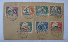 BASUTOLAND 1954. Queen Elizabeth II. Stamps Used On Well Preserved Envelope. SG 43-49. - Basutoland (1933-1966)