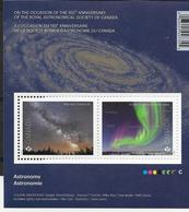 CANADA 2018, ASTRONOMY, SHEETLET OF 2 STAMPS  Of MILKY WAY & Northern Lights - Blocs-feuillets