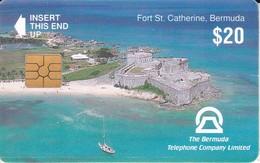 TARJETA DE BERMUDAS DE FORT ST. CATHERINE - Bermude