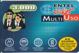 CHILE - ENTEL Prepaid Card $3000, Exp.date 30/03/04, Used - Chili