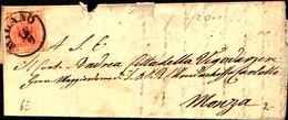 60334)   LOMBARDO VENETO Lettera CON 15 C. Prima Emissione  DA MILANO A MONZA IL 16-9-1850 - Lombardy-Venetia