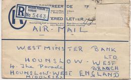 REGISTERED LETTER COVER FROM DURBAN - SOUTH AFRICA - STAMP MISSING - Stamps