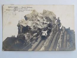 C.P.A. 86 PARIS :LUNA PARK, Scenic Railway , Animé, Timbre En 1909 - Autres