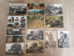 Dolmens & Menhirs - 12 Cartes Toutes Photographiées - Rocher, Monuments Mégalithiques, Roche, Chapeau De Napoléon - Dolmen & Menhirs