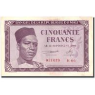 Billet, Mali, 50 Francs, 1960, 1960-09-22, KM:1, TTB+ - Mali