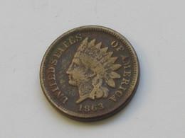 1 Cent 1863  Indian Head - Etats-unis - USA  *** EN ACHAT IMMEDIAT  *** - Federal Issues