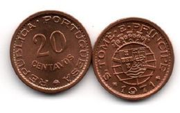 S. Tome E Principe - 20 Centavos 1971 XF Ukr-OP - Santo Tomé Y Príncipe