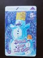 Latvia, Lettland , Lettonia -  Christmas And Calendar Used Phonecard - Lettonie