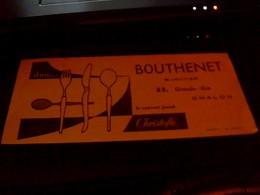 Buvard Bouthenet Bijoutier A Chalon Couverts Christofle - Vloeipapier