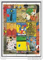 Guinea 1998 Guinee Quadri Dipinti Da Joan Mirò Surrealismo Sheet Perf. Nuovo MNH Paintings Tableaux - Guinea (1958-...)