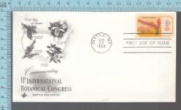 USA Envelope - FDC 1969 - Image = 11 Th International Botanical Congress, Fouquieria Splendens -  6¢  Stamp - Premiers Jours (FDC)