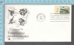 USA Envelope - FDC 1969 - Image = 11 Th International Botanical Congress , Cypripedium.. - 6¢  Stamp - Premiers Jours (FDC)