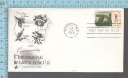 USA Envelope - FDC 1969 - Image = 11 Th International Botanical Congress , Pseudotsuga.... - 6¢  Stamp - Premiers Jours (FDC)