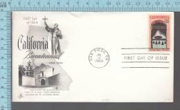 USA Envelope - FDC 1969 - Image = California Bicentennial, San Diego De Alcala  - 6¢  Stamp - Premiers Jours (FDC)
