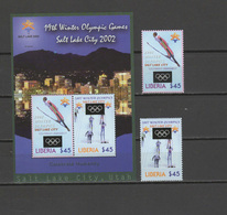 Liberia 2002 Olympic Games Salt Lake City Set Of 2 + S/s MNH - Winter 2002: Salt Lake City