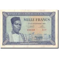 Billet, Mali, 1000 Francs, 1960, 1960-09-22, KM:4, TTB - Mali