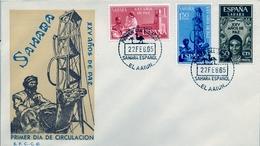 1965 , SAHARA ESPAÑOL , SOBRE DE PRIMER DIA , ED. 239 / 241 , XXV AÑOS DE PAZ - Sahara Español
