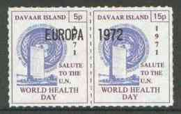 29190 Davaar Island 1971 Rouletted 5p & 15p Blue & Purple Se-tenant Pair (UN Europa Food Environment) - Local Issues