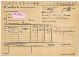 PERSONALKARTE II WIRTSCHASTLICHE ANGABEN LAGER PRIGIONIERI DI GUERRA 1945 - Documenti