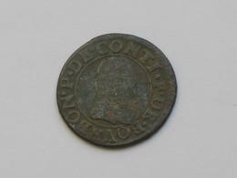 Double Tournois  - BOURBON *P*DE* CONTI ***** EN ACHAT IMMEDIAT ***** - 1610-1643 Louis XIII Le Juste
