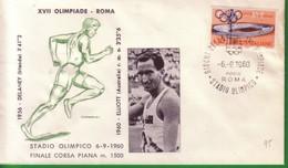 FDC FILAGRANO OLIMPIADI ROMA 1960 I VINCITORI:ATLETICA LEGGERA   M.1500 Uomini   ELLIOT. - Italia