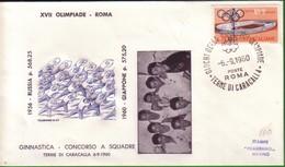FDC FILAGRANO OLIMPIADI ROMA 1960 I VINCITORI:GINNASTICA  Concorso A Squadre  GIAPPONE. - Italia