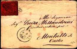 60340)   STATO PONTIFICIO Lettera CON 10 C.,Terza Emissione-DA ROMA A MONTALTO DI CASTRO IL 9-6-1868 - Stato Pontificio