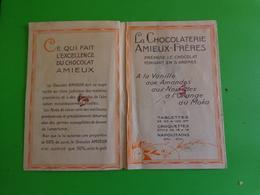 Petit Depliant -votre Caractere Devoile-la Chocolaterie Amieux Freres Nantes Paris - Chocolat
