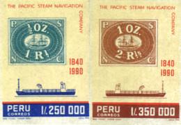 Ref. 188342 * NEW *  - PERU . 1990. 6 CENTENARIO DE LA PACIFIC STEAM NAVIGATION COMPANY - Peru