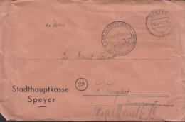 FranzZone Gebühr Bezahlt, B4a, Speyer 12.6.1947 - Französische Zone