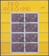 SCHWEIZ 1196, Kleinbogen, Gestempelt, 50 Jahre Swissair 1981 - Blocks & Kleinbögen