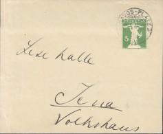 SCHWEIZ S 26, Streifband, Gestempelt: Davos-Platz 14.II.1915 - Enteros Postales