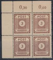 SBZ  Ost-Sachsen 56 I: Perlenschnur Im 4erBlock, Postfrisch ** - Zone Soviétique