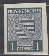 "SBZ  Provinz Sachsen 66 X IV: ""H"" Beschädigt, Postfrisch ** - Zona Sovietica"