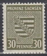 """SBZ  Provinz Sachsen 83 X Mit Abart: """"O"""" Von """"PROVINZ"""" Oben Offen, Postfrisch * - Zone Soviétique"""