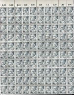 AllBes, FranzZone RHEINLAND-PFALZ 1 Y V, Kompletter Bogen (10x10) Ohne Rand, Postfrisch **/*, Mit PF Und Abarten - Zone Française