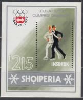 ALBANIEN  Block 59, Postfrisch **,  Olympische Winterspiele, Innsbruck 1976 - Winter 1976: Innsbruck