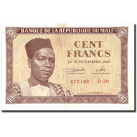 Billet, Mali, 100 Francs, 1960, 1960-09-22, KM:2, TB+ - Mali