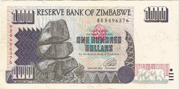Zimbabue - Zimbabwe 100 Dollars 1995 Pick 9a Ref 1762 - Zimbabwe