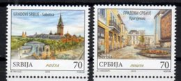 SERBIA , 2018, MNH, CITIES, SUBOTICA, CHURCHES, 2v - Geography