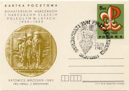 Ref. 265647 * USED *  - POLAND . 1983. EN MEMORIA DE LOS SCOUTS POLACOS CAIDOS DURANTE LA II GUERRA MUNDIAL - 1944-.... República