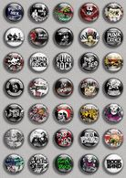 PUNK ROCK Music Fan ART BADGE BUTTON PIN SET (1inch/25mm Diameter) 35 DIFF 1 - Music