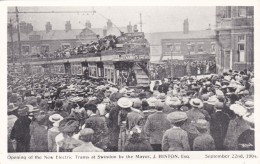 SWINDON - OPENING OF NEW ELECTRIC TRAMS 1904. REPRINT - Non Classificati